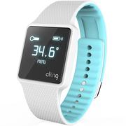 hicling Cling Bio智能运动手表(微信互联+实时心率+体温+铝合金机身+触控屏幕+智能提醒+防水)南极冰蓝
