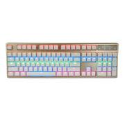 凯酷  104 LED荣耀2代 香槟金 混光背光机械键盘 游戏键盘 红轴
