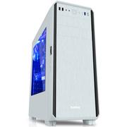 先马 塔里克侧透版白 游戏电脑机箱(宽大五金/拉丝面板/侧透/U3/支持SSD/380mm长显卡/背线)