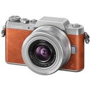 松下 Lumix DMC-GF8 微型单电单镜套机 橘黄色 手动变焦版 美颜自拍利器(12-32mm DMC-GF8KGK-D)