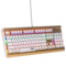 新贵 GM600香槟金 双色键帽 104键悬浮式炫光机械键盘 青轴版 白色产品图片3