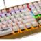 新贵 GM600香槟金 双色键帽 104键悬浮式炫光机械键盘 青轴版 白色产品图片4