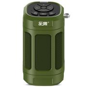 乐果 F5mini无线蓝牙音箱自行单车山地车骑行音响户外运动低音炮  军绿色