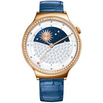 华为 WATCH 星月系列 智能手表 (施华洛世奇人造宝石 蓝色鳄鱼纹牛皮表带) 玫瑰金产品图片主图