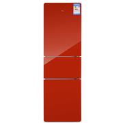 TCL BCD-216TBF1 216升 三门冰箱 高光玻璃 节能静音(探戈红)