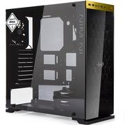 迎广 805c金 ATX中塔式机箱 黑金色 铝合金/钢化玻璃/双面侧透(U2*2+U3*1+U3.1*1)