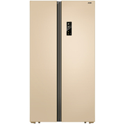 美菱 BCD-650WPCX 650升大容积 变频保鲜 风冷无霜 隐形门把手 金色对开门冰箱
