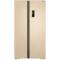 美菱 BCD-650WPCX 650升大容积 变频保鲜 风冷无霜 隐形门把手 金色对开门冰箱产品图片1