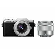 松下 Lumix DMC-GF8 微型单电单镜套机 银色 手动变焦版 美颜自拍利器(12-32mm+35-100mm DMC-GF8W