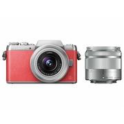 松下 Lumix DMC-GF8 微型单电单镜套机 粉红色  手动变焦版 美颜自拍利器(12-32mm+35-100mm DMC-GF