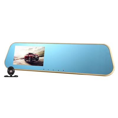 硕基 M760A 后视镜行车记录仪高清双镜头 1080P广角夜视产品图片1