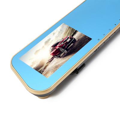 硕基 M760A 后视镜行车记录仪高清双镜头 1080P广角夜视产品图片4