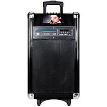 先科 A3 户外广场舞音响 带显示屏DVD便携移动电瓶拉杆音箱视频机产品图片主图