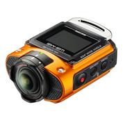理光 WG-M2 户外运动三防相机(橙色)204°超广角视频、4K拍摄、WIFI连接、坚固设计