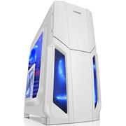 先马 风暴5白 400长游戏电脑机箱USB3.0背线侧透长显卡SSD电源下置空箱