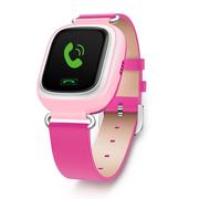 小天才 电话手表Y01 皮革粉色 儿童智能手表360度防护 学生小孩智能定位通话手环手机
