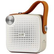 乐果 H1 蓝牙音箱户外便携插卡小音响收音机4.0无线迷你低音炮  米白色