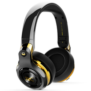 魔声 ROC Sport C罗定制款 头戴无线蓝牙耳机耳麦 触控按键 超重低音 手机耳机 黑金色(137045)