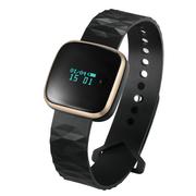 天诺思 X6 智能手环运动手环计步器智能手环男女 睡眠 监测 方款金色 通用加强版 苹果安卓均使用