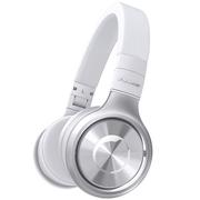 先锋 SE-MX8-S 可折叠便携头戴 手机HIFI 强劲重低音 通话耳机 银色