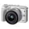 佳能 EOS M3(EF-M 15-45mm f/3.5-6.3 IS STM) 微型单电套机 白色 轻便 小巧 广角产品图片1