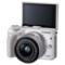 佳能 EOS M3(EF-M 15-45mm f/3.5-6.3 IS STM) 微型单电套机 白色 轻便 小巧 广角产品图片4