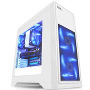先马 泰坦白 电脑游戏机箱(全白五金/宽体ATX-II结构/280mm水冷排/415mm长显卡/USB3.0/SSD/背线)