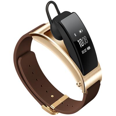 华为 手环B3   (蓝牙耳机与智能手环结合+金属机身+触控屏幕+真皮腕带) 商务版 摩卡棕产品图片2