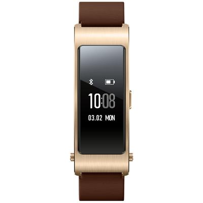 华为 手环B3   (蓝牙耳机与智能手环结合+金属机身+触控屏幕+真皮腕带) 商务版 摩卡棕产品图片3