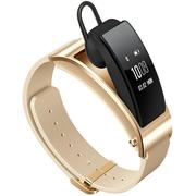 华为 手环B3  (蓝牙耳机与智能手环结合+金属机身+触控屏幕+真皮腕带) 商务版 浅沙棕