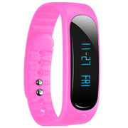 天诺思 E02 智能蓝牙手环运动手环计步器 健康监测 粉色
