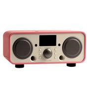 欧乐司  AW3021 New Breeze 蓝牙无线HIFI音响 复古高端遥控蓝牙2.1低音炮音箱带收音机 粉色