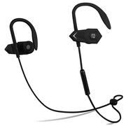 兰士顿 BHOOK 利箭 锲形双动力无线运动蓝牙耳机 双耳立体音乐耳机 通用型 黑色