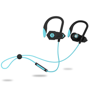 兰士顿 BHOOK 利箭 锲形双动力无线立体蓝牙耳机 双耳立体音乐耳机 通用型 黑蓝色