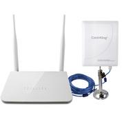 卡王 KW-3021 挂卡路由器+300兆大功率无线网卡套餐 手机WIFI信号放大接收/发射/中继器