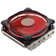 乔思伯 HP625日食红 多平台下吹CPU散热器 六热管 12CM PWM温控静音风扇