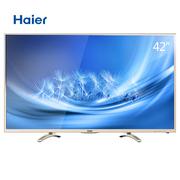 海尔 LE42A31 42英寸安卓64位智能网络六核窄边框全高清LED液晶电视 金色