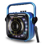 纽曼  KW-202 拉杆音箱广场舞音响户外 便携式插卡扩音器带无线麦克风 宝石蓝