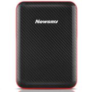 纽曼 吉云 500GB 液压平衡滚轴系统 防震 安全 稳定 快速 2.5寸 USB3.0 纤薄 移动硬盘 黑红