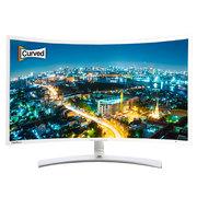 优派 VX3271-scw 曲面屏31.5英寸高清台式滤蓝不闪屏广视角电脑液晶曲面显示器 白色