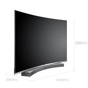 海尔 LS65U91 65英寸纤薄4K曲面64G大存储音乐LED电视(黑色)