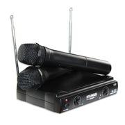 现代 N-03A 无线麦克风 家庭影院KTV无线话筒 一拖二家用卡拉OK麦克风 黑色