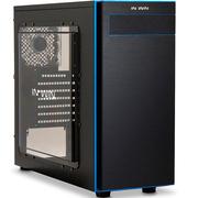 迎广 703 黑蓝 中塔式机箱/侧透/时尚简洁(U3x1,U2x2,标配2个12cm风扇)