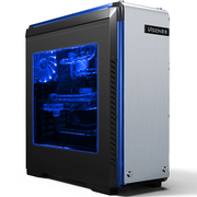 至睿 创客TX10 黑 游戏电脑机箱(铝面板/独立电源仓/大侧透/LED灯光/240MM水冷位)