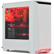 追风者 日食416P标准版 白色ATX水机箱 (全金属/RGB饰灯控\支持360水冷\模组硬盘\标配2风扇)