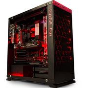 迎广  8系 805c红 中塔式机箱 黑紅色 铝合金+钢化玻璃/U2*2+U3*1+U3.1*1