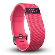 Fitbit Charge HR 智能乐活心率手环 心率实时监测 自动睡眠记录 来电显示 运动蓝牙手表计步器 粉色 S