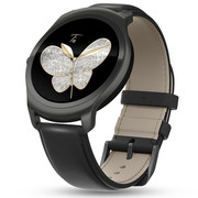 Ticwatch 2 智能手表经典系列(蓝宝石版黑真皮表带)语音触摸 蓝牙3G通话手表 防水GPS记步测心率