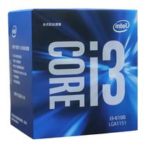 英特尔  酷睿i3-6100 14纳米 Skylake架构盒装CPU处理器 (LGA1151/3.7GHz/3MB缓存/51W)产品图片主图