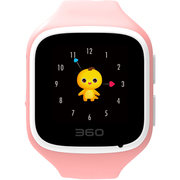 360 儿童手表 巴迪龙儿童手表5 W563 儿童卫士 智能彩屏电话手表 蜜桃粉